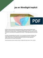 Más Ventajas en MineSight Implicit Modeler
