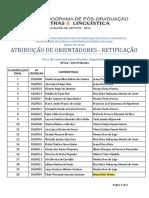 RETIFICAÇÃO ATRIBUIÇÃO DE ORIENTADOR
