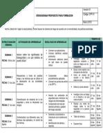 Cronograma de Formacion Bioseguridad Saneamiento Ambiental