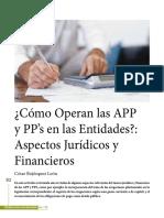 ¿Como operan las APP y PPs?
