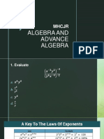 L1 CCP Algebra and Advance Algebra