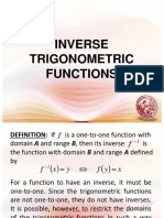 Lesson 7 - Inverse Trigonometric Functions.ppt