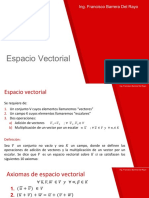 2. Espacio Vectorial