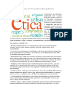 Las Cualidades Determinantes en La Formación Ética de Futuros Profesionales