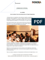 11-09-18 Inicia Isssteson Curso de Actualización en Terapia Respiratoria