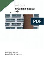 Construccion social del paisaje