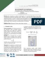 Informe de laboratorio fisicoquimica