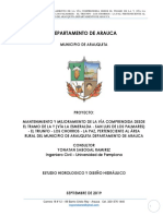 Informe Hidrológico e Hidráulico La Paz