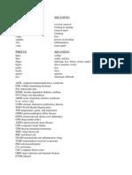 Suffix-prefix and Abbreviation