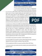 Fundación Centro Escolar El Sauce 2019