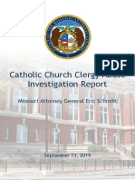 Catholic Church Clergy Abuse Investigation Report