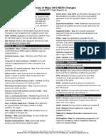 Summary Major Changes 2012 NESC