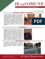 Notizie Dal Comune di Borgomanero del 13-09-2019