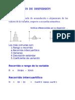 Medidas Dispersion y Forma