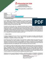 Programa Inglés con fines generales Univalle 2019