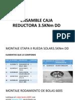 Ensamble Caja Reductora 3.5knmdd