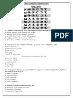 Avaliação de Língua Portuguesa - Substantivos e Adjetivos