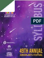 2019 NGC Sanfest Syllabus Booklet