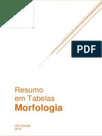 Resumo em tabelas morfologia