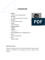 Currículum Vitae Nicodemo REN Escalante Holguín