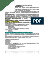 Clase de Gobiernos No Democráticos. 8 de Julio 2019.
