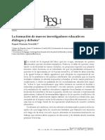 La Formación de Nuevos Investigadores Educativos
