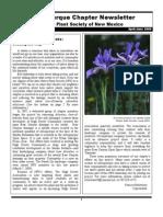 Apr-Jun 2009 Albuquerque Native Plant Society Newsletter