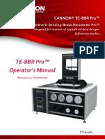 CANNON® TE-BBR Pro Operator's Manual