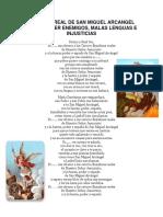 Ensalmo Real de San Miguel Arcangel Para Vencer Enemigos