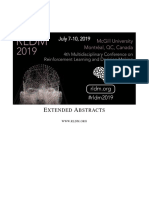RLDM 2019 extended abstracts