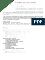 Introducción al Desarrollo del Capital Humano