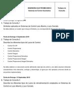 Sistemas de Control Automático Documentos Escritos de Consulta 2019 - II