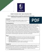 grade 4 curriculum newsletter sept 2019
