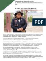 Cusqueña sustenta Tesis Doctoral en Quechua