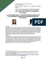 La Epistemología y La Investigacion