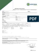 Certificado Capurro Gilda