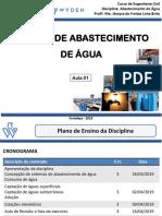 Aula 01 - Concepção Do Sistema de Abastecimento de Água