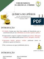Química de Lipídeos