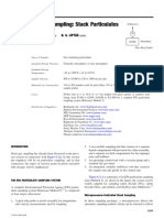 Analyzer sampling stack particles
