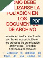Como Debe Realizarse La Foliación en Los Documentos de Archivo
