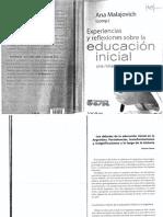 Experiencias y reflexiones sobre la educacion inicial. Rosana Ponce