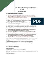 Bibliografia Básica e Conteúdo Programático - 2017