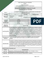 Informe Programa de Formación Titulada DECNC