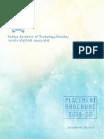 IITB Placement Brochure 2019-20