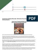 Aumentar de Masa Muscular_ Alimentos Para Después Del Entrenamiento _ ¿Cómo Aumentar Masa Muscular