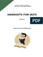 Handouts for IELTS - Answer Keys