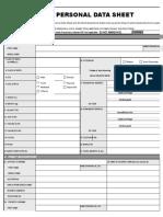 personal data sheet.xlsx