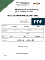 2.2.1 Solicitud de Inscripción a Talleres de Educación Especial (1)
