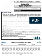 Ibfc 2015 Embasa Analista de Saneamento Medico Do Trabalho Prova