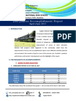Tugdan NHS 2nd Quarter Report